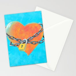 Chained Heart Stationery Cards