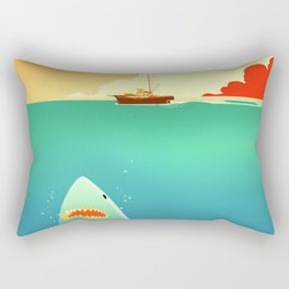 Jaws Beneath the Orca Rectangular Pillow