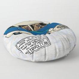 Ivory- Wolverines in their Nash Metropolitan Floor Pillow