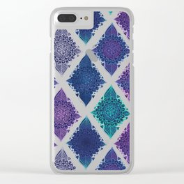 Night Glow Diamonds Clear iPhone Case