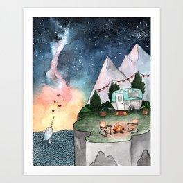 Night Camper Art Print