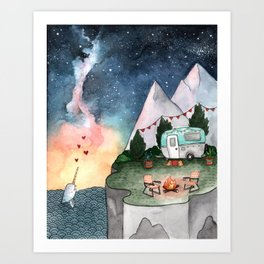 Night Camper Art Print