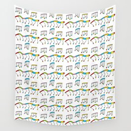 Colors and music--music,melody,fun,pleasure, rhythm, dance, art,sound,pitch,harmony,musical Wall Tapestry