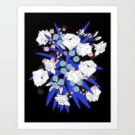 Leafy florals Art Print