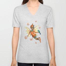 Pixie .. fantasy fairy art Unisex V-Neck