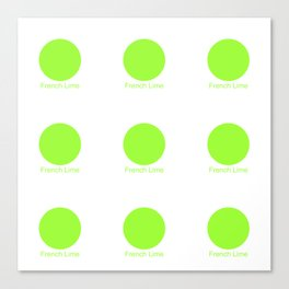 French Lime Canvas Print