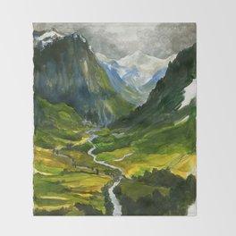 The Hidden Valley (original) Throw Blanket