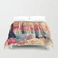 woods Duvet Covers featuring Woods by takmaj