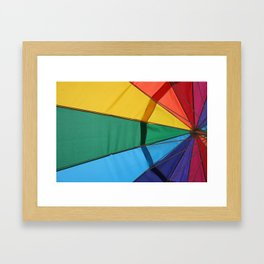 We live in a colorful world Framed Art Print
