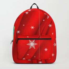 Christmas balls with background Backpack