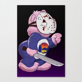 Jason Scare Bear Canvas Print
