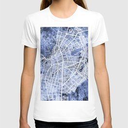 Cali Colombia City Map T-shirt