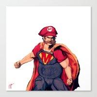 super mario Canvas Prints featuring Super Mario by Mastodon