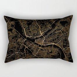 Pittsburgh map, Pennsylvania Rectangular Pillow