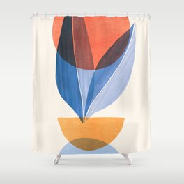Summer Stack II / Abstract Landscape Shower Curtain