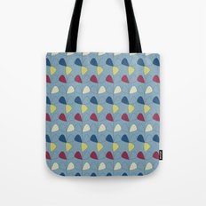 Vintage Leaves blue Tote Bag