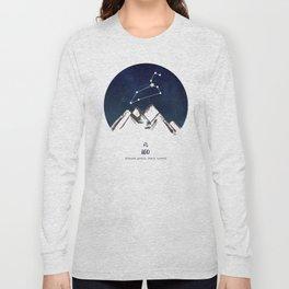 Astrology Leo Zodiac Horoscope Constellation Star Sign Watercolor Poster Wall Art Long Sleeve T-shirt