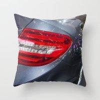 mercedes Throw Pillows featuring Mercedes-Benz C 180 Coupé Sport by Mauricio Santana