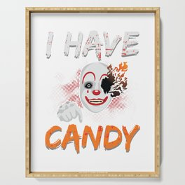 I Have Candy Scary Clown Spooky Halloween Serving Tray