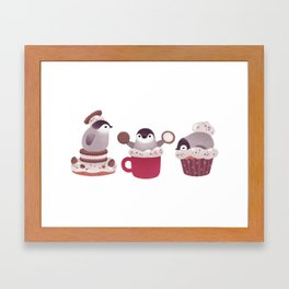 Cookie & cream & penguin Framed Art Print
