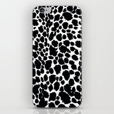 Animal Print Cheetah Black and White Pattern #4 iPhone & iPod Skin