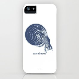 Insect's badge. Scarabaeus. iPhone Case