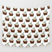 cake Wall Tapestries featuring Cake by elyinspira