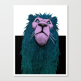Lion Bust Canvas Print