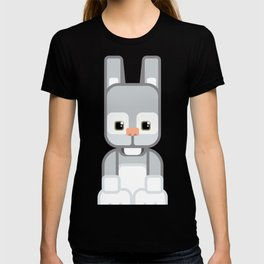 Silver Grey Bunny Rabbit - Super Cute Animals T-shirt