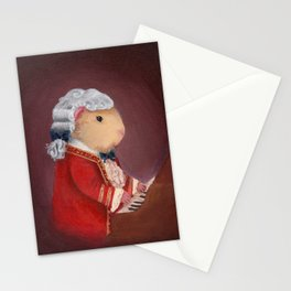 Guinea Pig Mozart Classical Composer Series Stationery Cards