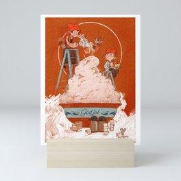Christmas porridge Mini Art Print