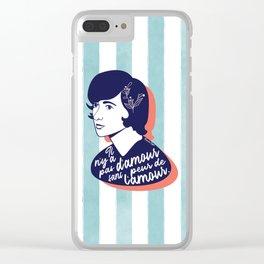 Fear Of Love - Françoise Sagan Clear iPhone Case
