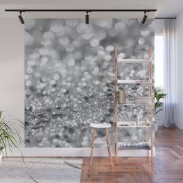 Silver Gray Lady Glitter #1 #shiny #decor #art #society6 Wall Mural