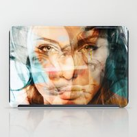 angelina jolie iPad Cases featuring faces of Angelina Jolie by Karma (Bhutangirl)