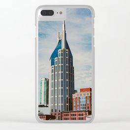 Nashville Skyline Clear iPhone Case