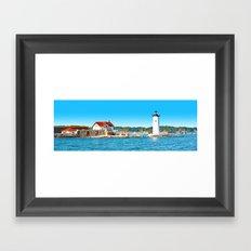 Lighthouse Panorama Framed Art Print