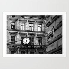 Prague 7:27 Art Print