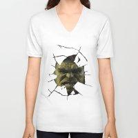 hulk V-neck T-shirts featuring Hulk by s2lart