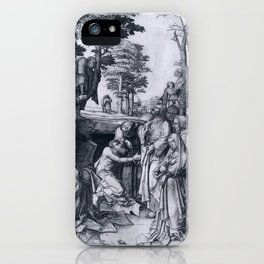 Lucas van Leyden The Raising of Lazarus iPhone Case
