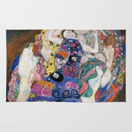 Gustav Klimt Die Jungfrauen The Maiden Rug