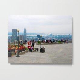 Montreal Skyline (facing skyscrapers) Metal Print