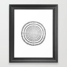 Fjorn on white Framed Art Print