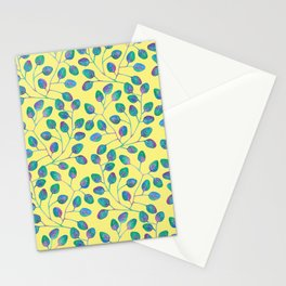 Coloured Leaves and yellow Stationery Cards