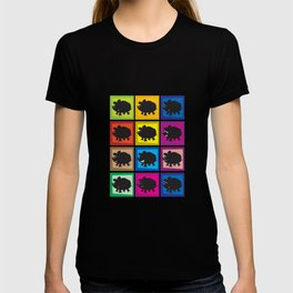 Pig in different moods T-shirt
