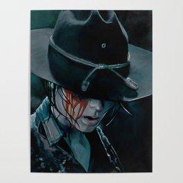 Carl Grimes Shot In The Eye - The Walking Dead Poster