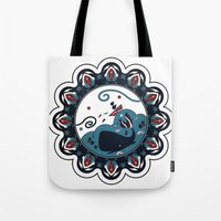 the whale Tote Bags featuring whale by gazonula