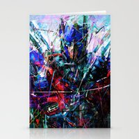 optimus prime Stationery Cards featuring OPTIMUS PRIME by Raditya Giga