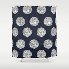 Glitter Pois Shower Curtain