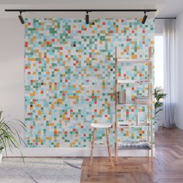 handmade coloured squares Wall Mural
