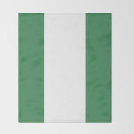 Nigeria flag emblem Throw Blanket